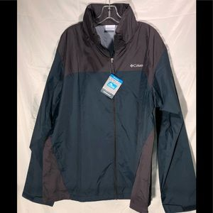 Men's Columbia Waterproof rain jacket Size m XL